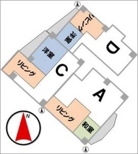 事例2(バラバラの住戸を合体)