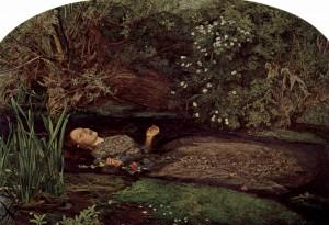 オフィーリア ジョン・エヴァレット・ミレー画(1852年・テート・ギャラリー収蔵)