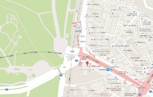 コープ・オリンピア地図(Googlemapより)