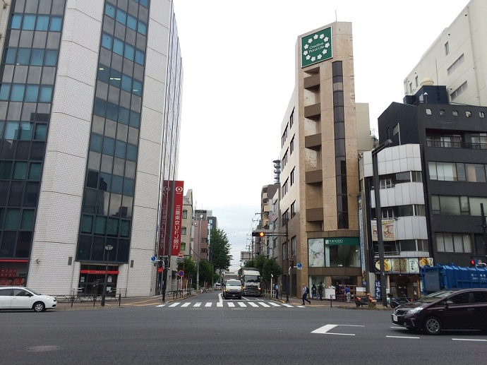 新宿通りと四谷津の守坂