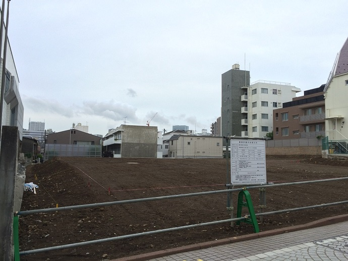 新宿区三栄町計画_三井不動産_現地