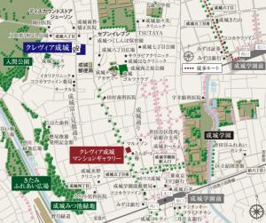 成城 地図