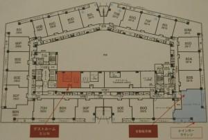 ゲストルーム階フロア図