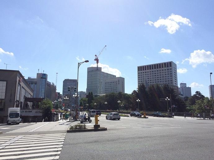 四ツ谷駅前_千代田区側を見る