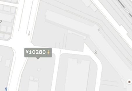 表示された地図をドンドン拡大