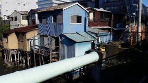 高浜橋に残っていた一軒家