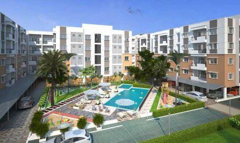 広い中庭のある新築マンションの購入
