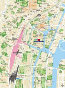 プラウドタワー芝浦 現地案内図