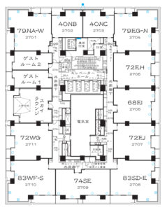 プラウドタワー芝浦 27F平面図