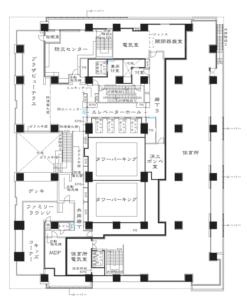 プラウドタワー芝浦 2F平面図