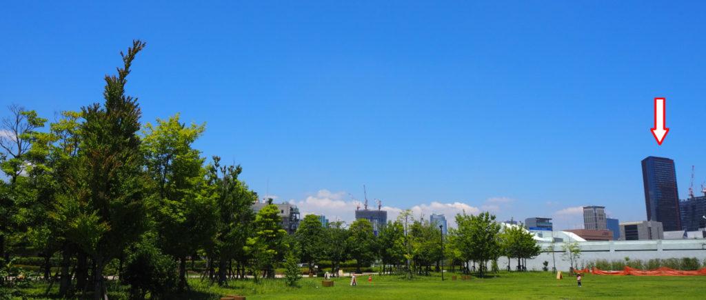 芝浦中央公園から北西側を望む