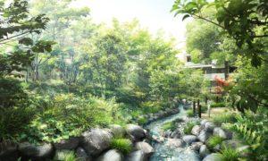ザ・パークハウス板橋大山大楠ノ杜の庭園