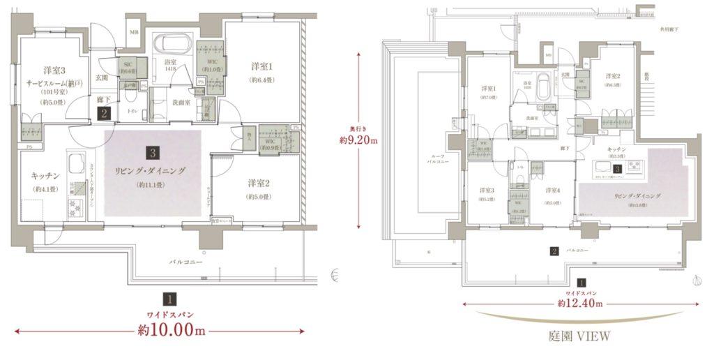 ザ・パークハウス板橋大山大楠ノ杜の間取図(スムログ)
